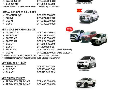 Harga Terbaru Mitsubishi Di Bulan Agustus